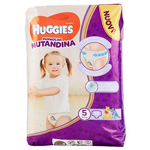 Huggies PANNOLINI Mutandina Einweg-Windeleinlagen, Kinder/Mädchen, Windel, 12kg, 17kg, mehrfarbig, 14Stück (S))