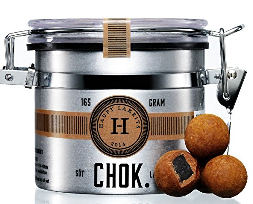 Preisvergleich Produktbild Haupt Lakrits CHOK Lakritzpralinen aus Schweden (Dose 165g)