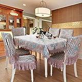 Wunderschönen Startseite Europäischen Luxus Couchtisch Tischdecke Stoff Tischdecke Stuhlabdeckung Stuhlkissen Set Esstisch Stuhlabdeckung erhöhen Rückenlehnenstärke (Farbe: Grün, Größe: (130 * 180cm))