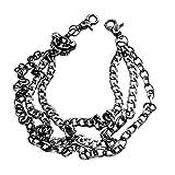 Caditex cadenas de cintura pesada, para hombre, motociclista, hip hop, rock, punk, calavera, pistola, balas, jeans, cadena y cadena tipo cartera, multicolor