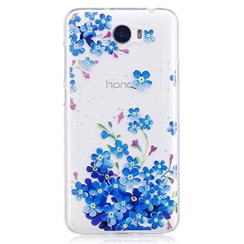 Cover Per Huawei Y5 II/Y5 2 Silicone Custodia Morbida con, Herzzer Moda Fantasia Creative 3d Gel Silicone Gomma Cover, Colorato Painting High ...