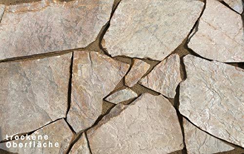 """Natursteinplatten Polygonalplatten Quarzit\""""Clara\"""" 20m² auf Palette"""