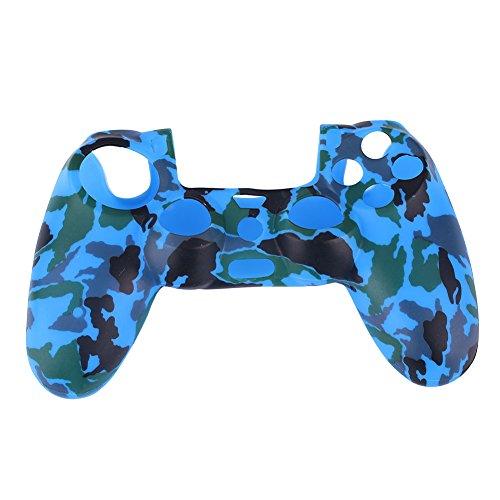Cewaal Camouflage Silikon Gummi Soft Hülle Haut Griff Cover Case Für PS4 Controller (Gummi Ps4)