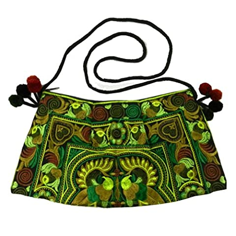 BTP! HMONG Bag Swingpack Hill Tribe Ethnic Bird Embroidered Sling