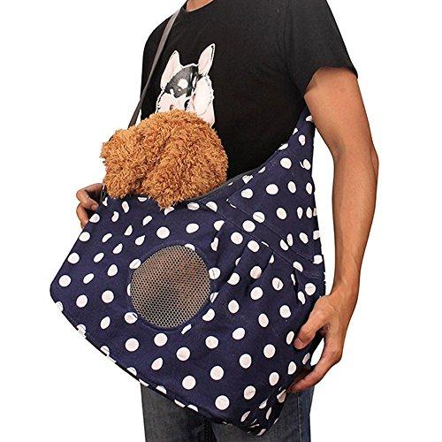 Haustier Tasche Single Schulter Sling Bag Hund Katze verstellbar Haustier Katze Tasche Tragetasche Hundetasche Hundetragetasche für Outdoor, Reise, Camping, Wandern
