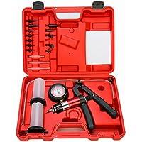 FreeTec Kit medidor de presión y vacío de mano de la bomba de presión y del líquido de purgado de frenos, 21 piezas