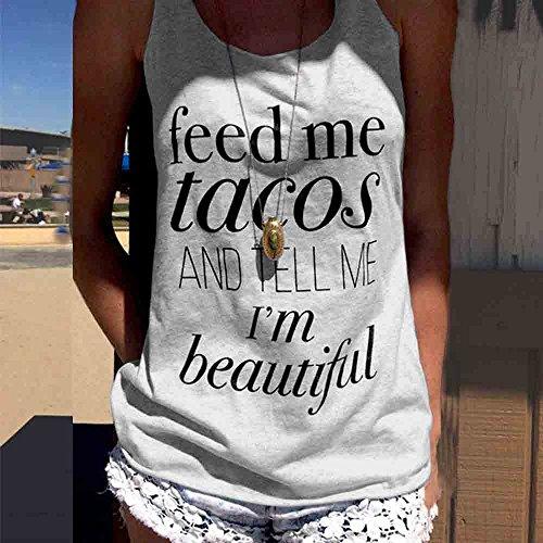 Tops T-Shirt Covermason Lettre Womens Tank sans manches Sexy impression Crop Tops gilet Blouse T-Shirt Gris