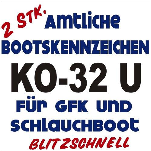 Preisvergleich Produktbild Bootsname amtl. Kennzeichen 2 Stück königsblau ca. 10cm Höhe je Buchstabe, NB-Boot-kb10