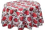 Provencestoffe.com Traumhaft schöne runde Weihnachtsdecke, ca. 160 cm, Nativity, Baumwolle Digitaldruck