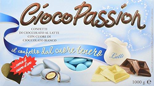 Crispo confetti cioco passion cioccolato al latte con cuore di cioccolato bianco - 3 confezioni da 1kg