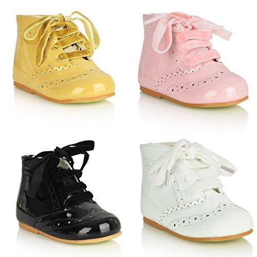 TIA LONDON Filles Demoiselle D'honneur Chaussures de Soirée Chaussures Vernies par Tia Tailles UK1, 2,3, 4,5, 6,7, 8,9, 10