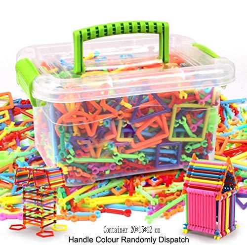 JIAHG Kinder Bausteine Spielzeug DIY Lernspielzeug Steckspiel Stecksteine Steckbausteine Gebäude Spielzeug Konstruktion Blöcke , 300 pcs, als Weihnachten Geburtstag Geschenk