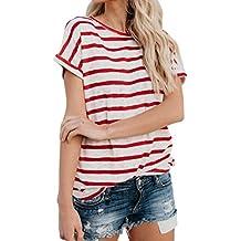 FAMILIZO Camisetas Rayas Mujer, Camisetas Mujer Manga Corta Blouse For Women Camisetas Mujer Verano Blusa Mujer Sport Tops Mujer Verano T Shirt Woman Camiseta Corta Mujer Top