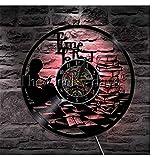 WJUNM Adolescente Tempo di Leggere Inspirational Orologio da PareteIlluminazione Tempo di...
