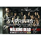 """The Walking Dead Poster Photo Season 5 12x8"""" Signed PP by 11 Andrew Lincoln Norman Reedus Danai Gurira Steven Yeun Emily Kinney Michael Cudlitz Chad Coleman Chandler Riggs"""