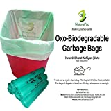 #3: Garbage bags biodegradable Small Size Green Premium 43cm x 51 cm ,Garbage Bag Kitchen,Trash bags / Dustbin bags/Garbage Bag 100% biodegradable tested garbage bags (180 bags) by NaturePac.