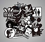 Black And White Seamless Graffiti Sticker Tide Brand Sign Style Waterproof Sticker For Bicycle Suitcase Skateboard Guitar 100Pcs