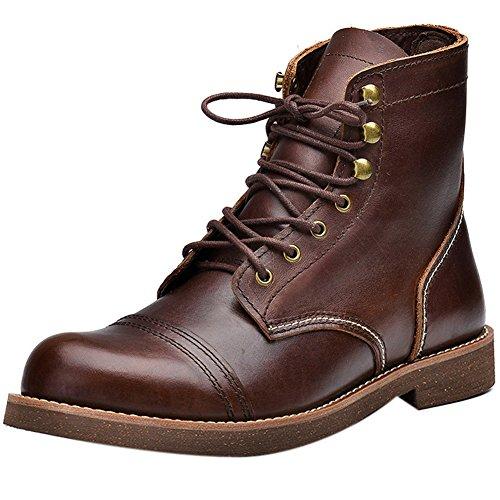 Insun , Herren Stiefel, braun - Coffee - Größe: 39 - Cold Weather Combat Boots