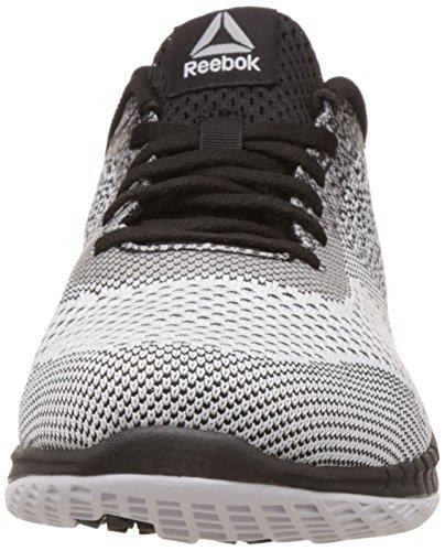 4cf9e094cab ... Reebok Men s Print Run Prime Ultk Black Wht Vital Blue Pwt Running  Shoes ...