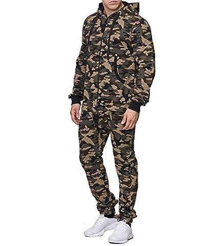 Violento - Combinaison jogging camouflage Combi homme 663 vert - L - Vert