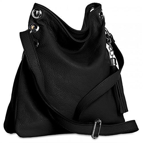 CASPAR Fashion, Borsa a spalla donna Nero (nero)