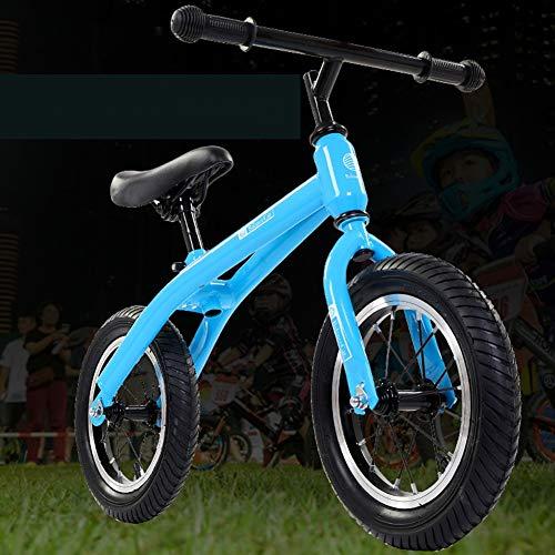 Y-Bikeee Bici per Bambini con Allenamento, Bici da Passeggio Classica per Bambini Senza Pedali Leggera con Sedile E Maniglia Regolabili in Altezza per Ragazzi E Ragazze, 2-6 Anni,Blu