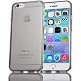NALIA Handyhülle für iPhone 6 6S, Ultra-Slim Silikon Case Crystal Schutzhülle Dünn Durchsichtig, Handy-Tasche Back-Cover Transparent Bumper für Apple iPhone 6S 6 - Grau Transparent