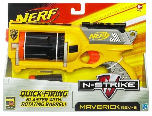 Hasbro - Nerf 61497848 - N-Strike Maverick, Softdart-Pistolen