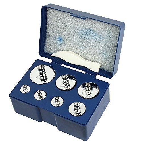 500g Lab (Weddecor 5 x 100g Kalibrierung Gewichte Edelstahl Set für Digital Gleichgewicht Maß, Schmuck Maß, Science Lab - Silbern, 7 Pcs - 500g)