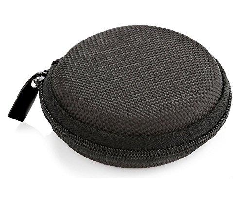 ProCase Apple Airpods Tasche Tasche Größe Halter Hartschale Eva Tragetasche für Earpods Bluetooth Headset Kopfhörer Ohrhörer USB Flash Drive Kabel SD-Karte -Schwarz