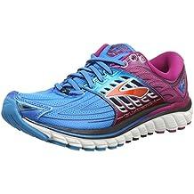 Brooks Glycerin 14, Chaussures de Running Compétition Femme, Grau / Pink / Silber, 38 EU
