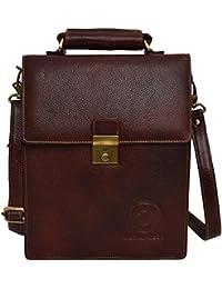 Cuero Cubo Unisex Genuine Leather Sling Bag