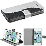 Best Mybat 5c Phone Cases - MyBat Silk Texture MyJacket with Diamonds and Tray Review