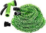 #10: KANTHI 100 FT Garden Hose Expandable Magic Flexible Water Hose EU Hose Plastic Hoses Pipe With Spray Gun Washing Car Watering (100 Feet & 30 Meters)