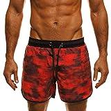 Snowbluff Uomo Elastico Camouflage Stampa Mutandine Pantaloncini Casual Moda Surf Marine Sport Costume da Bagno Anti-Skid Shorts Uomo Costume da Bagno Elastico Boxershorts con Taschino e Coulisse