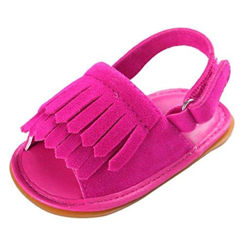 Omiky® Moda 2017 Sapatos De Bebê Berço Menina De Flores Recém-nascido Macio Únicos Anti-derrapantes Sapatilhas Do Bebê Sandálias Cor De Rosa