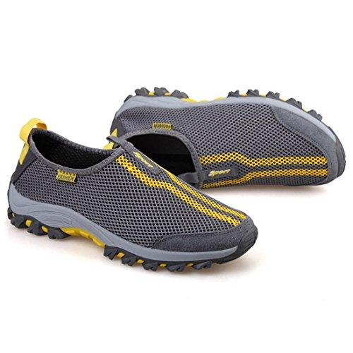 DorkasDE Mesh Schuhe Atmungsaktiv Wassersportschuhe Sneaker Strandschuhe für Damen Herren Kinder Gelb