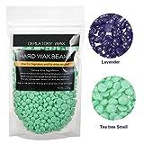 BlueZoo Haarentfernung Wachsbohnen, LuckyFine Heisswachs Für Intim, Beine, Arme und Gesicht Haarentfernung für zuhause lila, 100 g