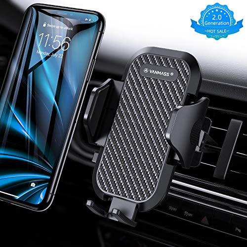 VANMASS Handyhalterung Auto Handyhalter fürs Auto Lüftung Bombenfest Vertikal & Horizontal mit Ausdehnbarer Halterfüße Universal für iPhone Samsung Huawei Oneplus und andere Smartphone [2019 Upgrade] -