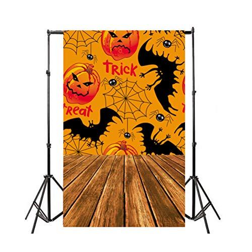 BESTOYARD Halloween Fotohintergrund 3D Festival Creepy Horror Realistische Bad Kuh Tomba Murale Studio Prop (Orange)
