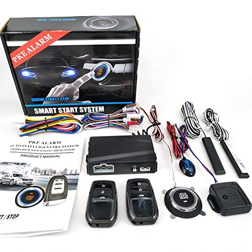 Katurn Schlüsselloses Alarmsystem - 12V Auto SUV Keyless Entry Motor Start Push Button Remote Starter Stop Auto Autozubehör Werkzeug