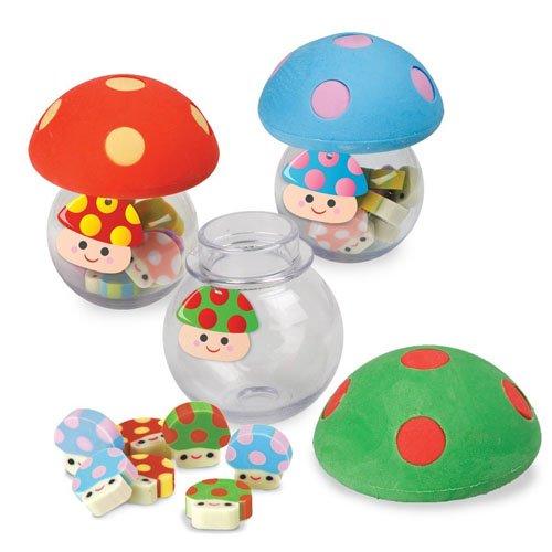Mushroom Erasers Rubbers sortierte Farben - Fun Stationäre
