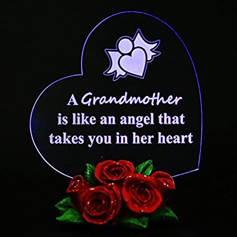 Giftgarden LED Personalised I Love Grandma Nan Nana Nanna Granny Gifts Birthday Cake Topper Decorations Thank you Special Gift for