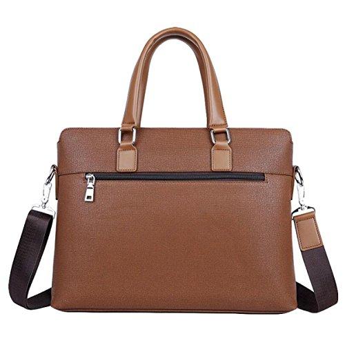 Männer Handtasche Horizontale Business Pack Computer Tasche Casual Tasche Aktenkoffer Brown2