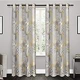 Exclusive Home Vorhänge eh8019–012–84g Patchwork Floral Print Kartusche Cotton Tülle Top Fenster Vorhang Panel, Sundress, 54x 84Zoll, 2Stück