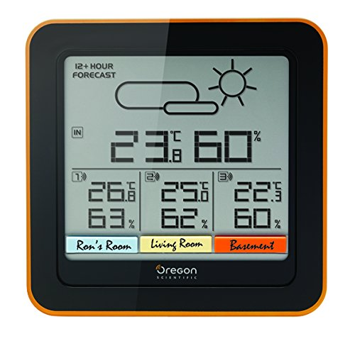 Oregon Scientific RAR 502 Multi-Channel Wetterstation, schwarz