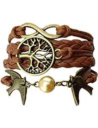 Bracelet en cuir Infinity arbre de vie