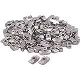 100piezas de plata T deslizante bloque de tuerca M5, con rosca para 40Serie Europea estándar aluminio ranura