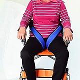 QGQG Sicherheitsgurt Für Rollstuhlfahrer, Bequemer, Baumwollverstärkter Sicherheitsgurt Für Oberschenkel, Sicherheitsgurt Für Rollstuhlfahrer, Damit Benutzer Nicht Vom Rollstuhl Fallen Können, Blau