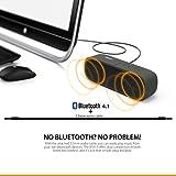 AUKEY Altavoz Portátil Bluetooth, Altavoz al Aire Libre Impermeable con 14 Horas deTiempo de Reproducción, Aux-In y Micrófono Incorporado para iPhone, Samsung, HTC, iPad, Tabletas etc (Negro)